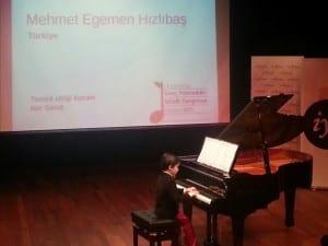 Uluslararası Genç Yetenekler Müzik Yarışması Mehmet Egemen Hızlıbaş Piyano