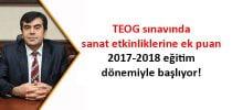 TEOG sınavında Sanat Etkinliklerine Ek Puan 2017-2018 Eğitim Dönemiyle Başlıyor!